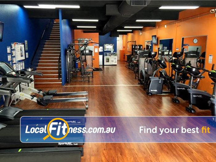 Plus Fitness 247 Sutherland Cardio area includes treadmills, cycle bikes, rowers and more.