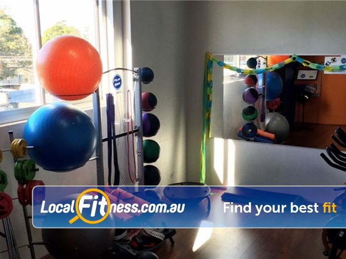 Plus Fitness 247 Near Woronora Heights Fully equipped abs and stretching space.