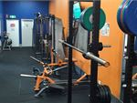 Heavy duty lifting racks for strength training.