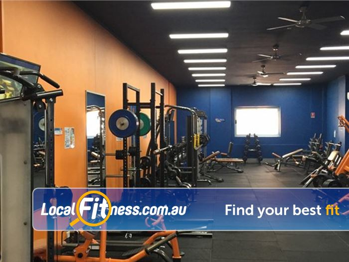 Plus Fitness 247 Near Woronora Heights The free-weights area is equipped with plate loading machines, benches and more.