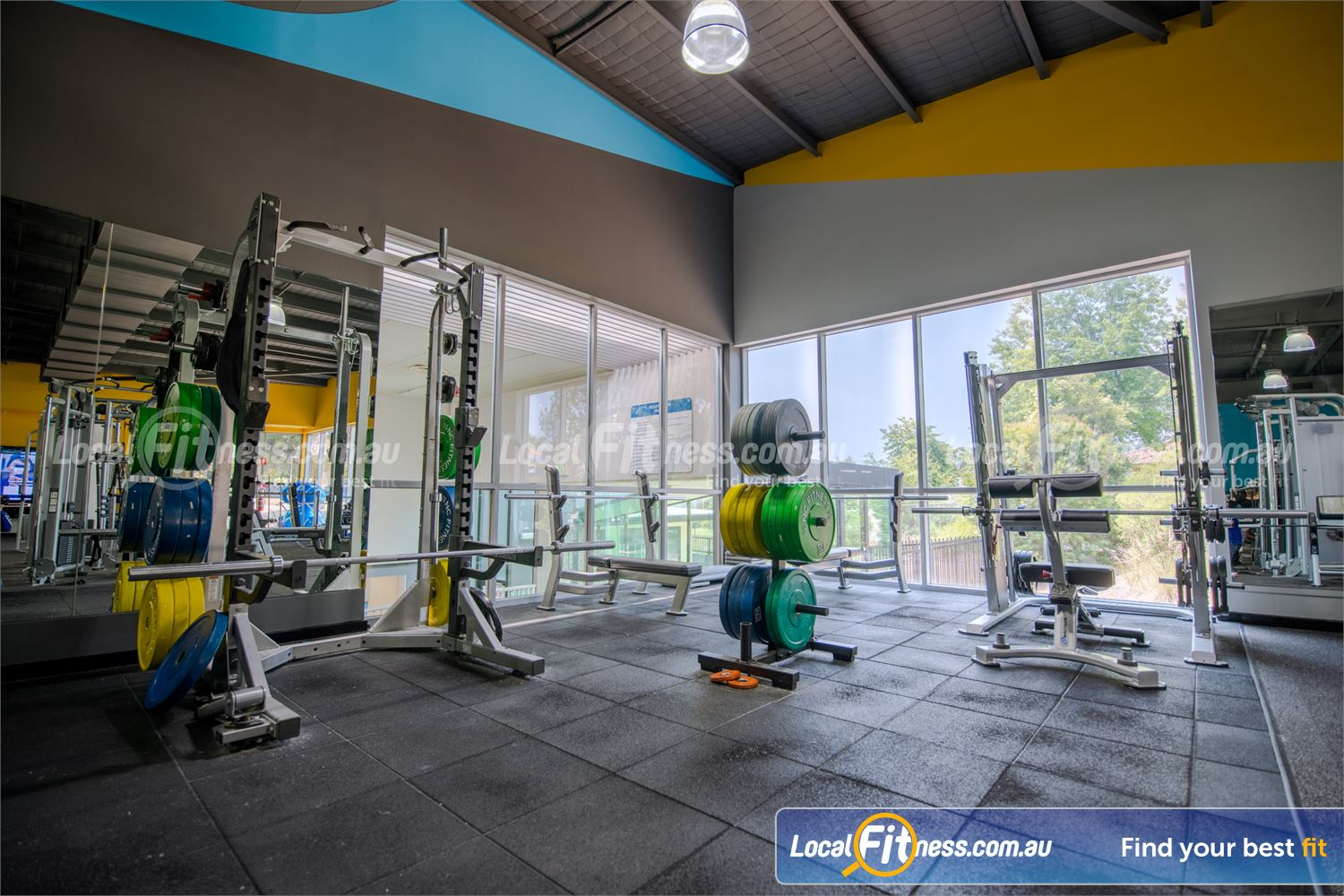 Knox Leisureworks Near Ferny Creek Heavy duty machines including a smith machine, power rack, bench presses and more.