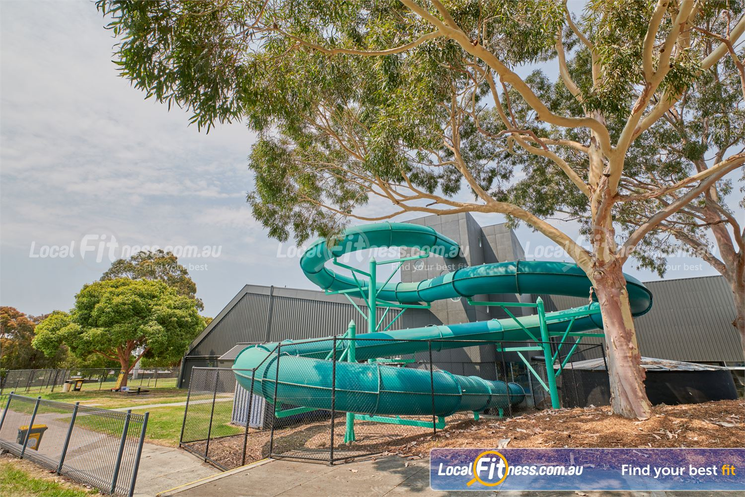 Knox Leisureworks Near Ferntree Gully The Knox Leisureworks 80-metre waterslide is open all year round.