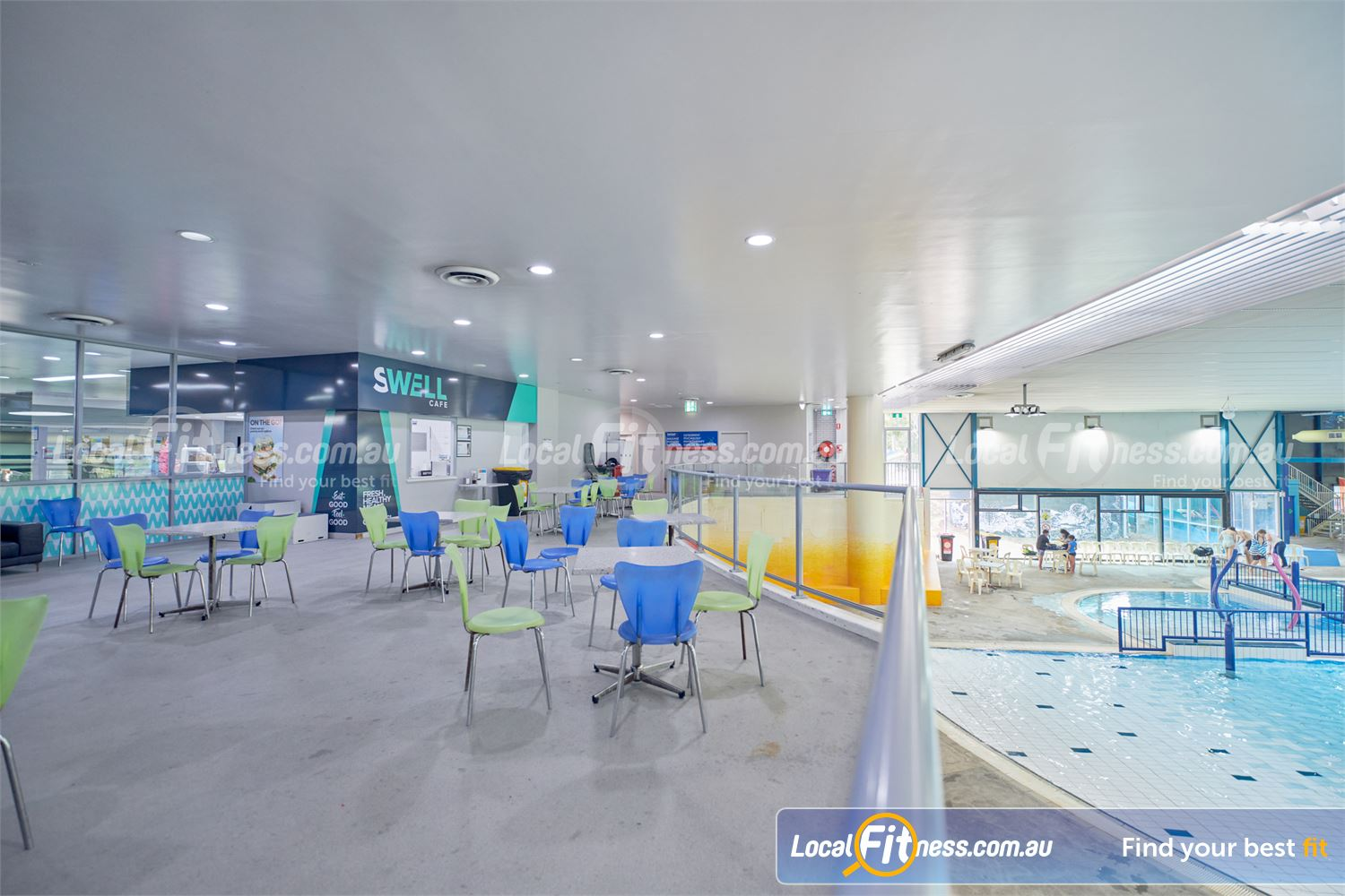 Knox Leisureworks Near Tremont We provide member seating in the pool area so your can watch your little ones.