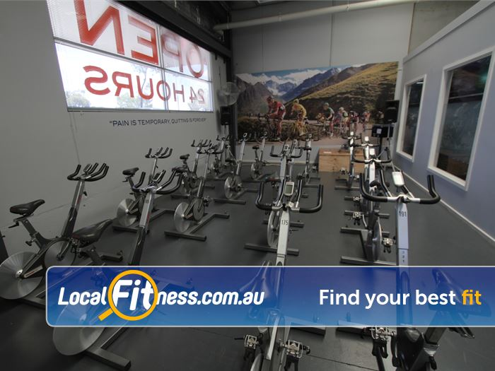 Rising Up Fitness Near Berwick Dedicated Narre Warren spin cycle area.
