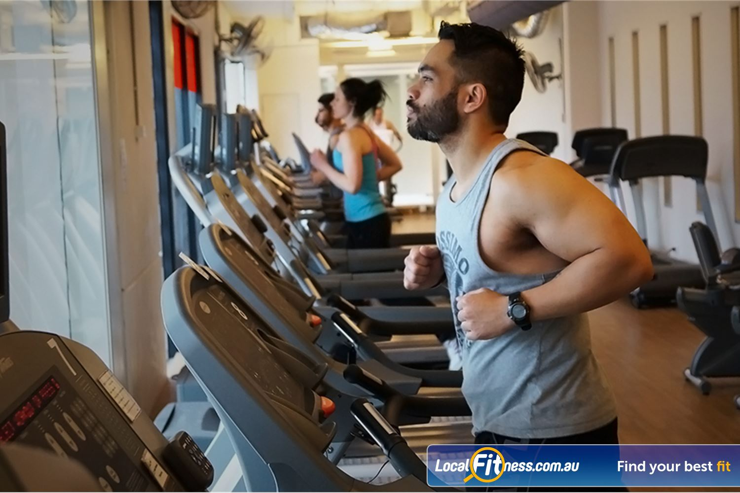 Goodlife Health Clubs Near Middle Park Enjoy our cardio with views overlooking the South Melbourne streets.