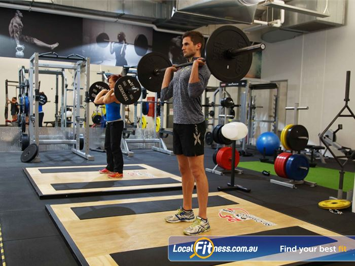 Re-Creation Health Clubs South Melbourne Gym Fitness Multiple lifting platforms in