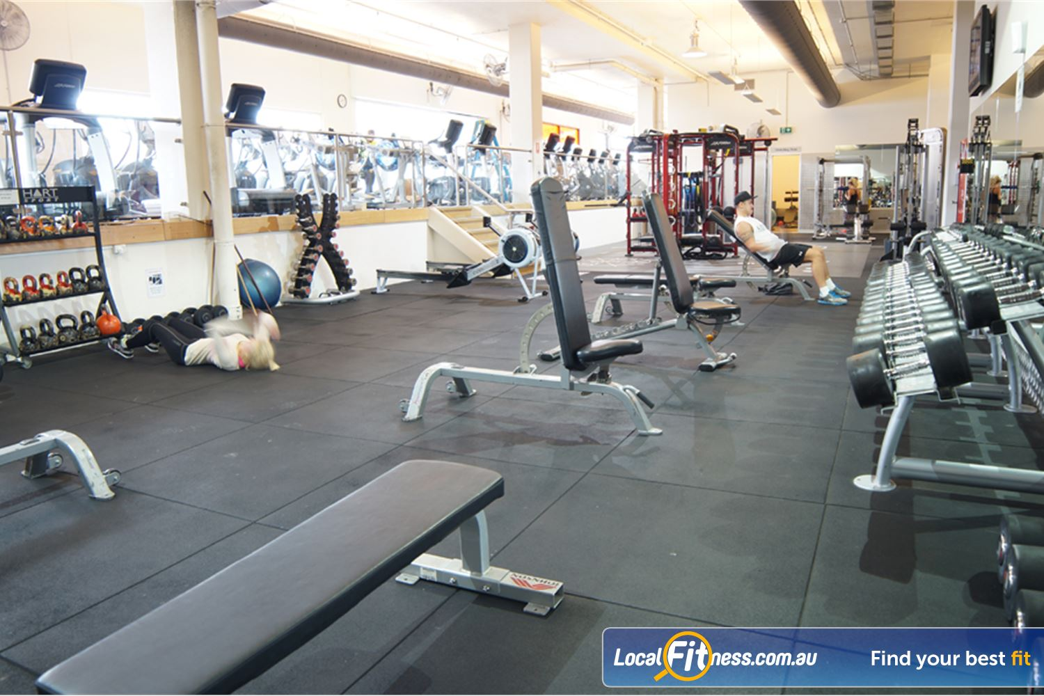 Goodlife Health Clubs Near Middle Park The fully equipped gym at Goodlife South Melbourne.