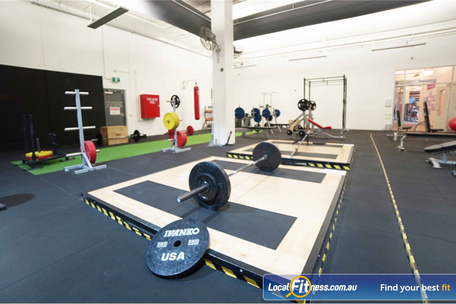 Goodlife Health Clubs Near Middle Park The dedicated South Melbourne HIIT gym area.