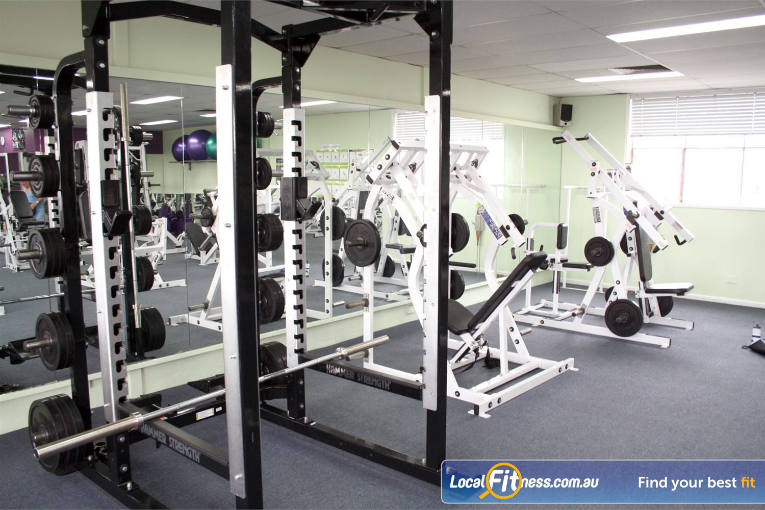 Berry Fitness Centre Near Carrum Heavy duty squat/lifting rack for strength training.