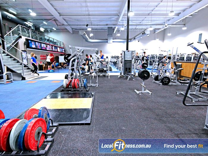 Fitness First Robina Town Centre Gym Fitness Heavy duty free-weights area