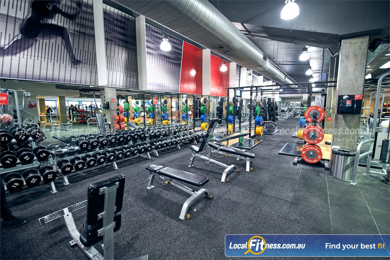 Fitness First Victoria Gardens Richmond Our Richmond gym includes a comprehensive free-weights area.