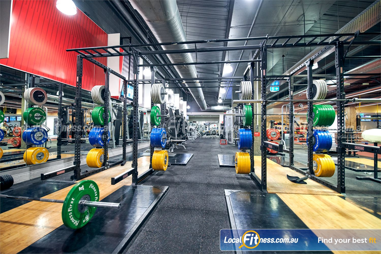 Fitness First Victoria Gardens Richmond Our Richmond gym has 6 Olympic lifting platforms.