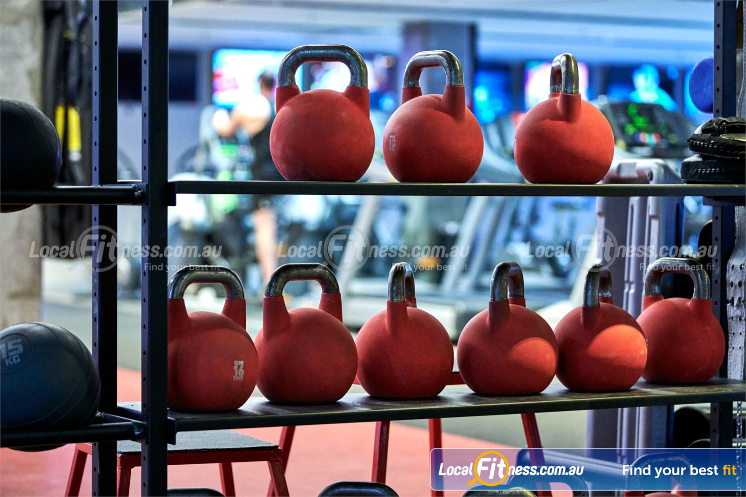 Fitness First Victoria Gardens Richmond Get into functional strength training with a kettlebell workout.
