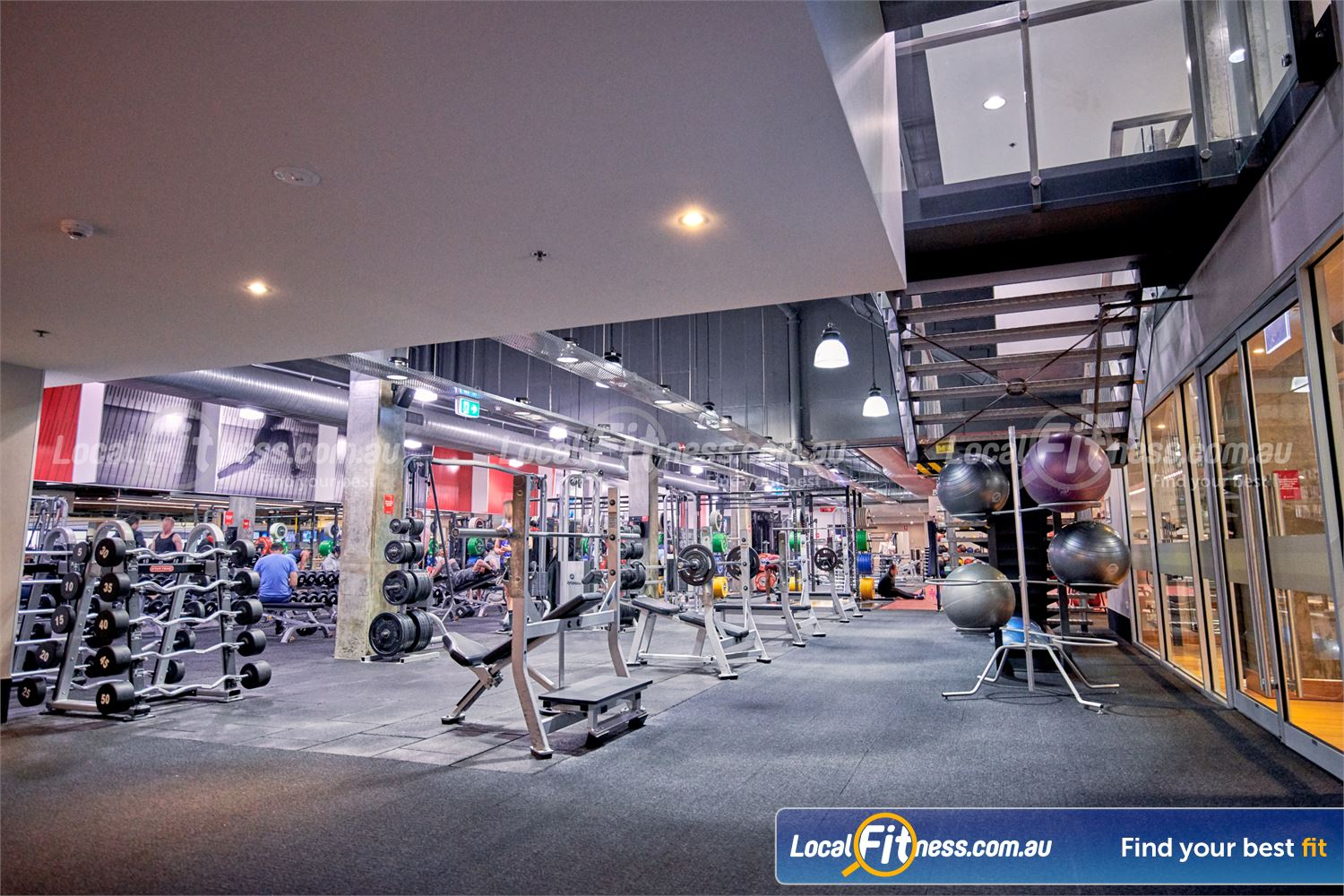 Fitness First Victoria Gardens Richmond Our free-weights area is fully equipped with dumbbells, barbells, benches and more.