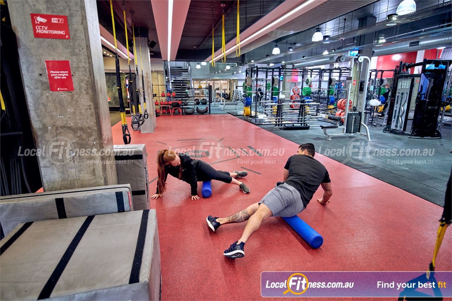 Fitness First Victoria Gardens Richmond Relieve muscle tension in our ab and stretching zone.