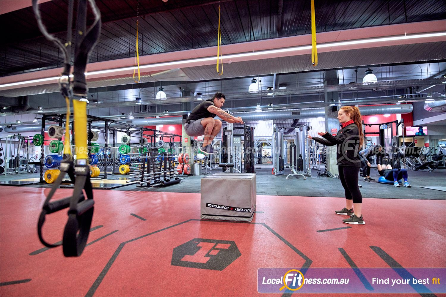 Fitness First Victoria Gardens Richmond Improve athletic performance with plyometric box jumps.