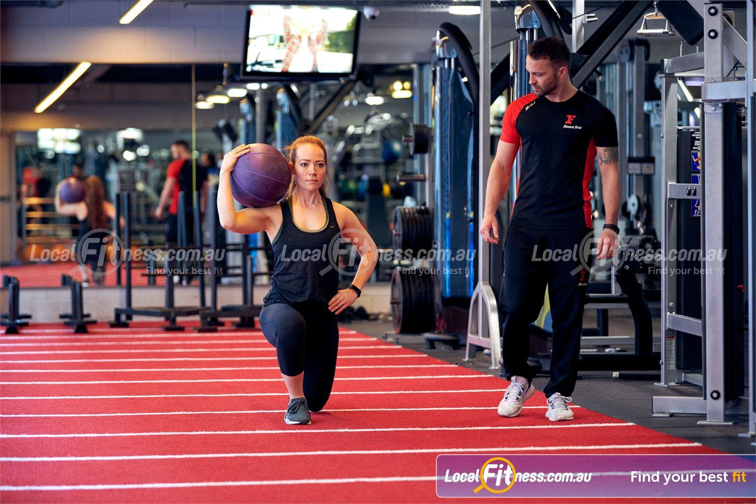 Fitness First Victoria Gardens Near South Yarra Our Richmond personal trainers can strengthen your core and glutes with lunges.