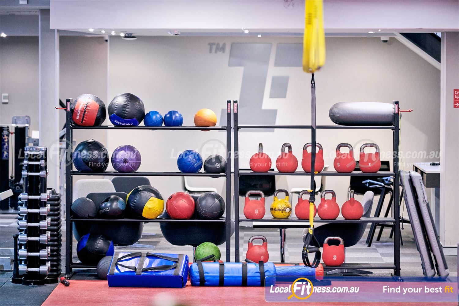 Fitness First Victoria Gardens Richmond Our functional training area is fully equipped with kettlebells, wall balls and more.