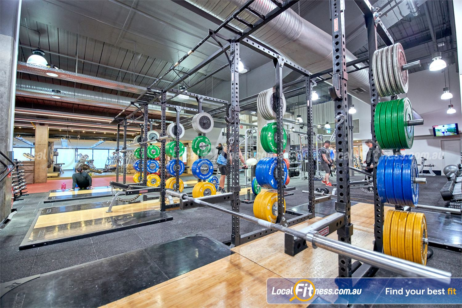 Fitness First Victoria Gardens Near South Yarra High-performance strength cages and Olympic lifting platforms in Richmond.