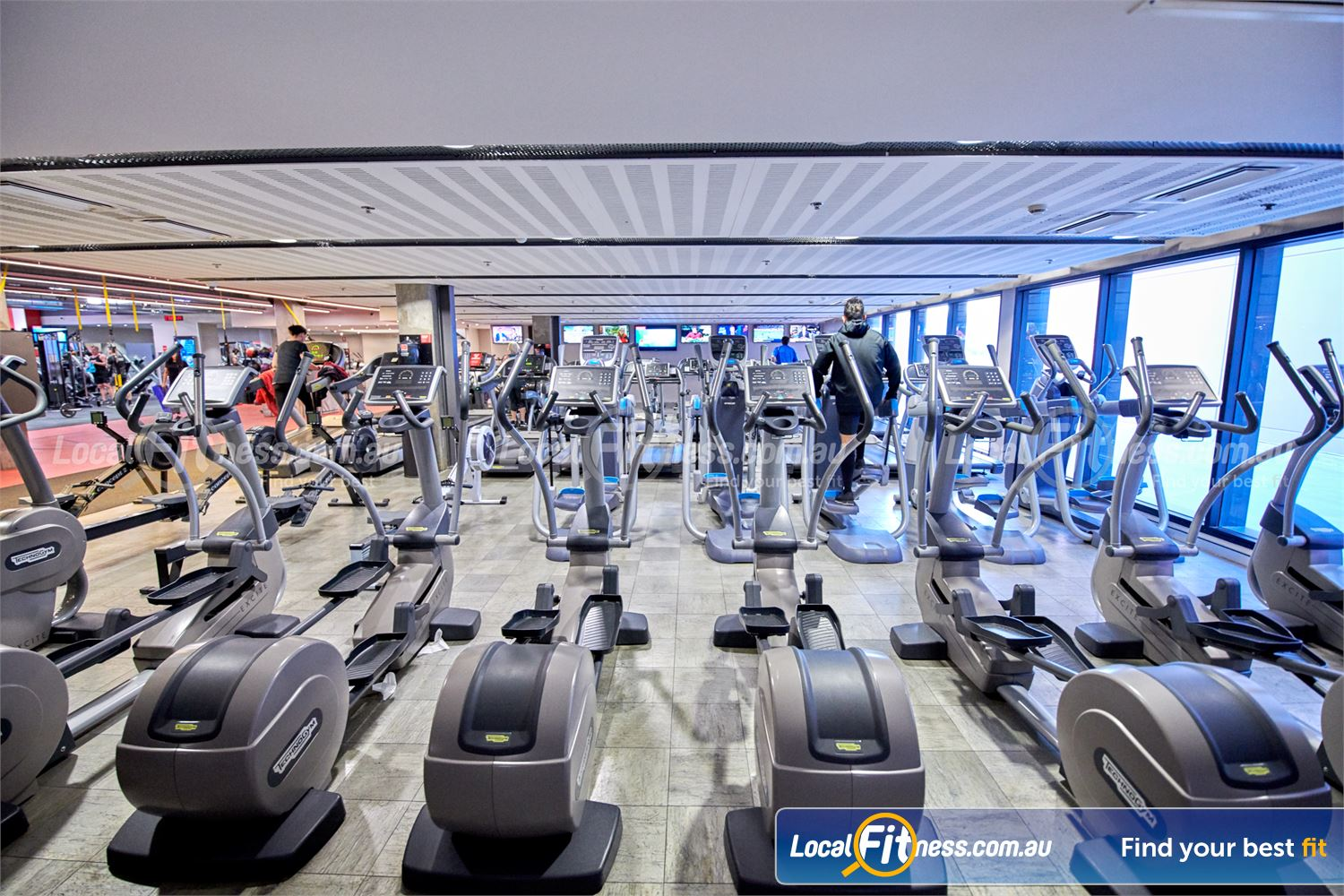 Fitness First Victoria Gardens Richmond State of the art cardio equipment from Technogym, Precor, Concept 2 and more.