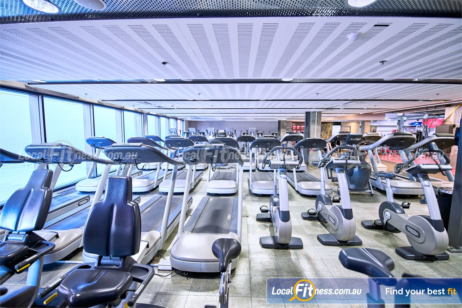 Fitness First Victoria Gardens Richmond Treadmills, cross trainers, cycle bikes and more.