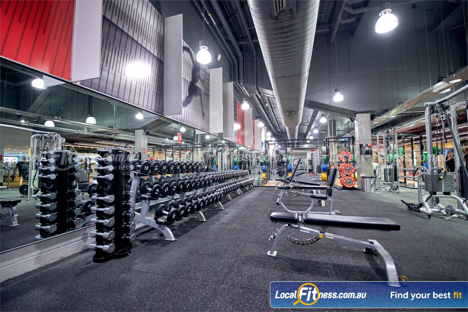 Fitness First Victoria Gardens Near South Yarra Our 24/7 Richmond gym includes a fully equipped free-weights area.