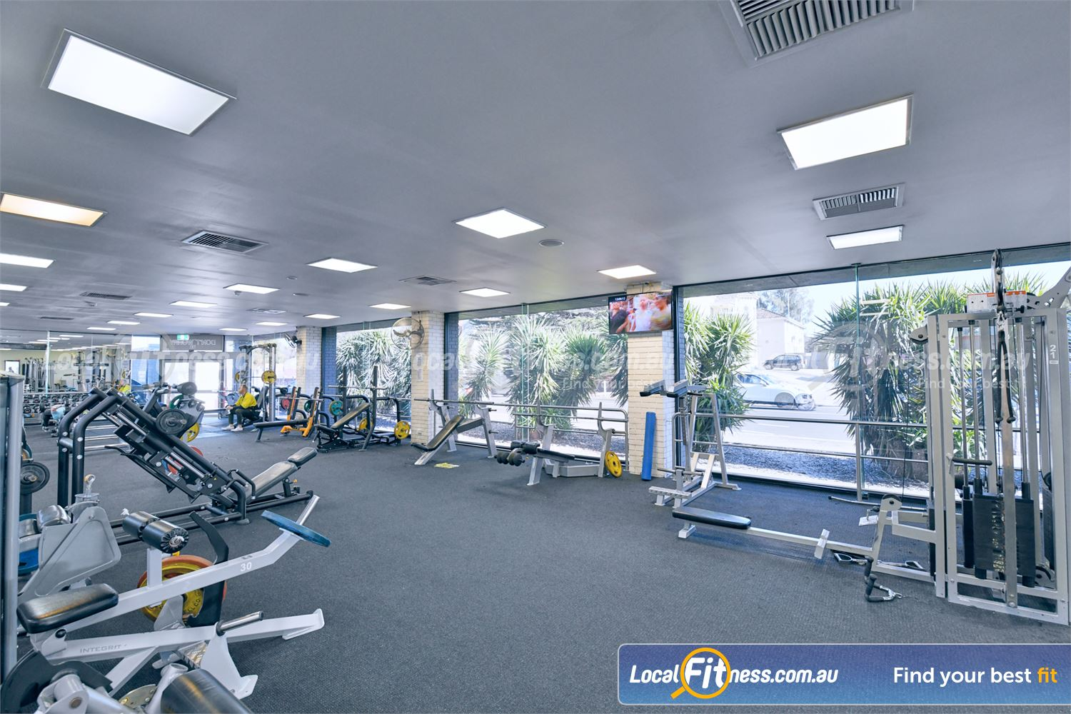 Goodlife Health Clubs Near Chadstone Full range of plate-loading machines including multiple bench presses.