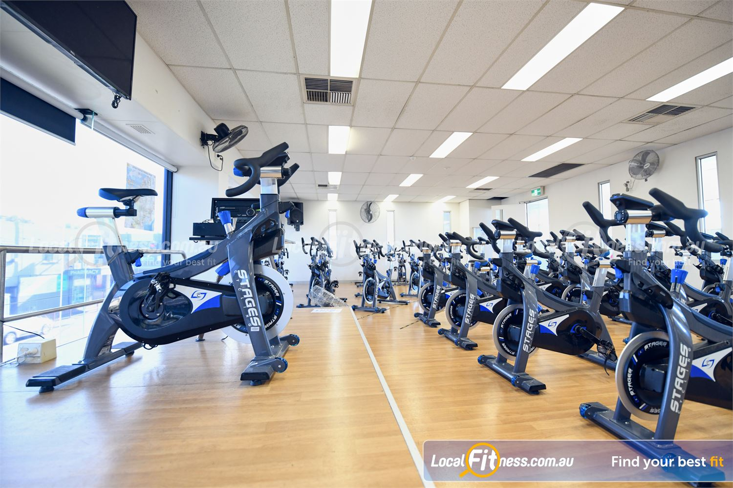 Goodlife Health Clubs Glen Iris Our Glen Iris cycle studio uses state of the art Stages cycle bikes with power meters.