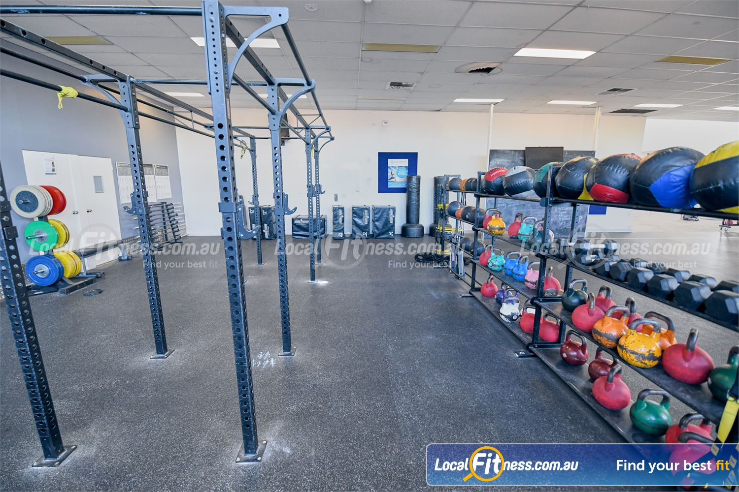 Goodlife Health Clubs Near Chadstone The functional area is fully equipped with kettlebells, wallballs and more.