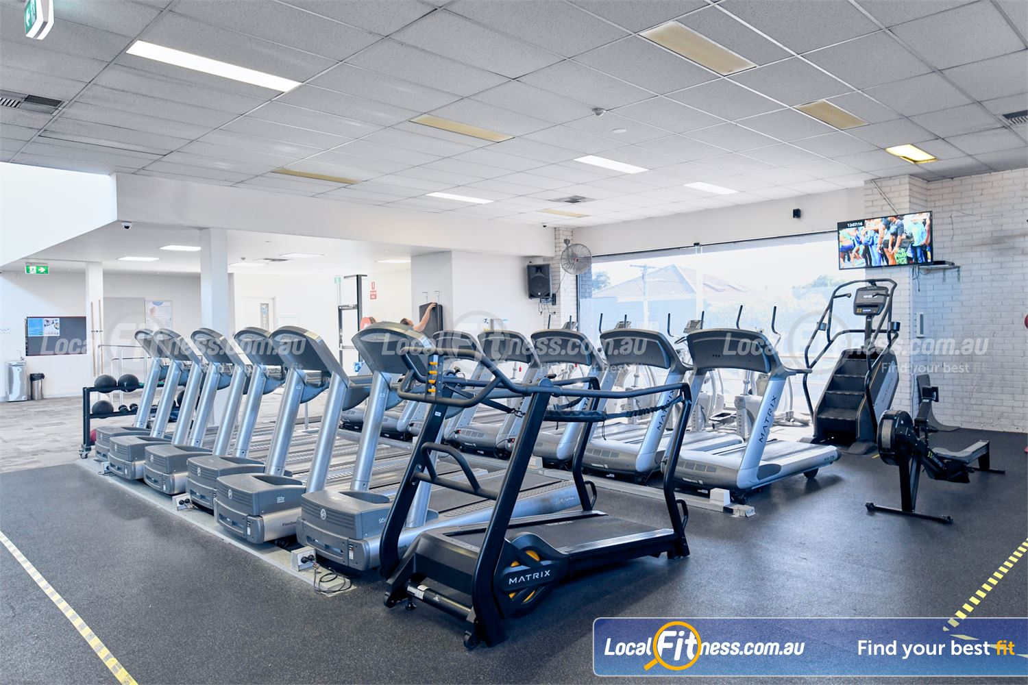 Goodlife Health Clubs Glen Iris Our Glen Iris gym includes rows of treadmills so you don't have to wait.