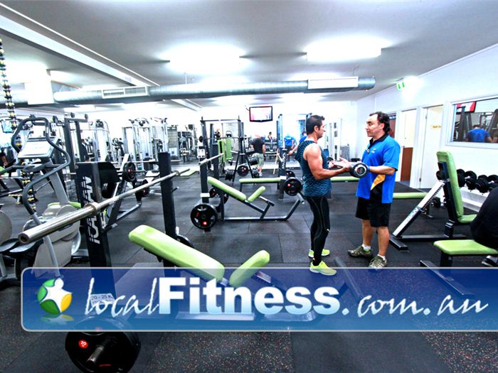 St Albans Leisure Centre Keilor Downs Full equipped St Albans gym free-weights area.