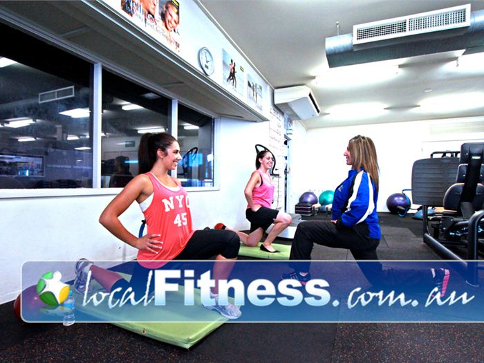 St Albans Leisure Centre Keilor Downs Full equipped stretching area with mats, fitballs and more.