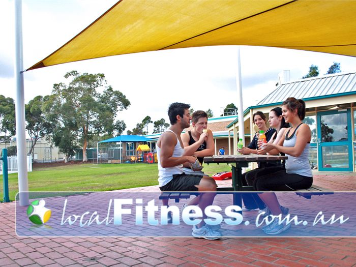 St Albans Leisure Centre Keilor Downs Enjoy a snack with friends in the outdoor area.