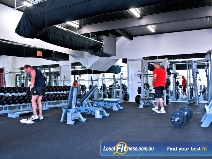 Genesis Fitness Clubs Gym Sherbrooke  | One of the largest free-weights training areas in