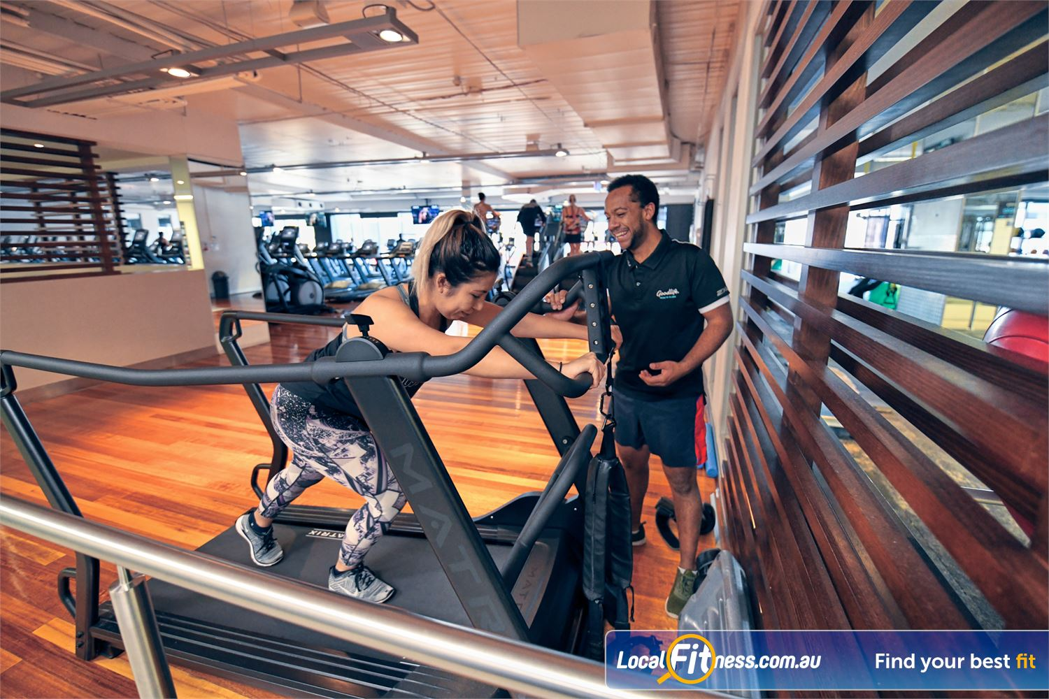 Goodlife Health Clubs Near Bulla The MATRIX S-drive performance trainer is great for functional cardio training.