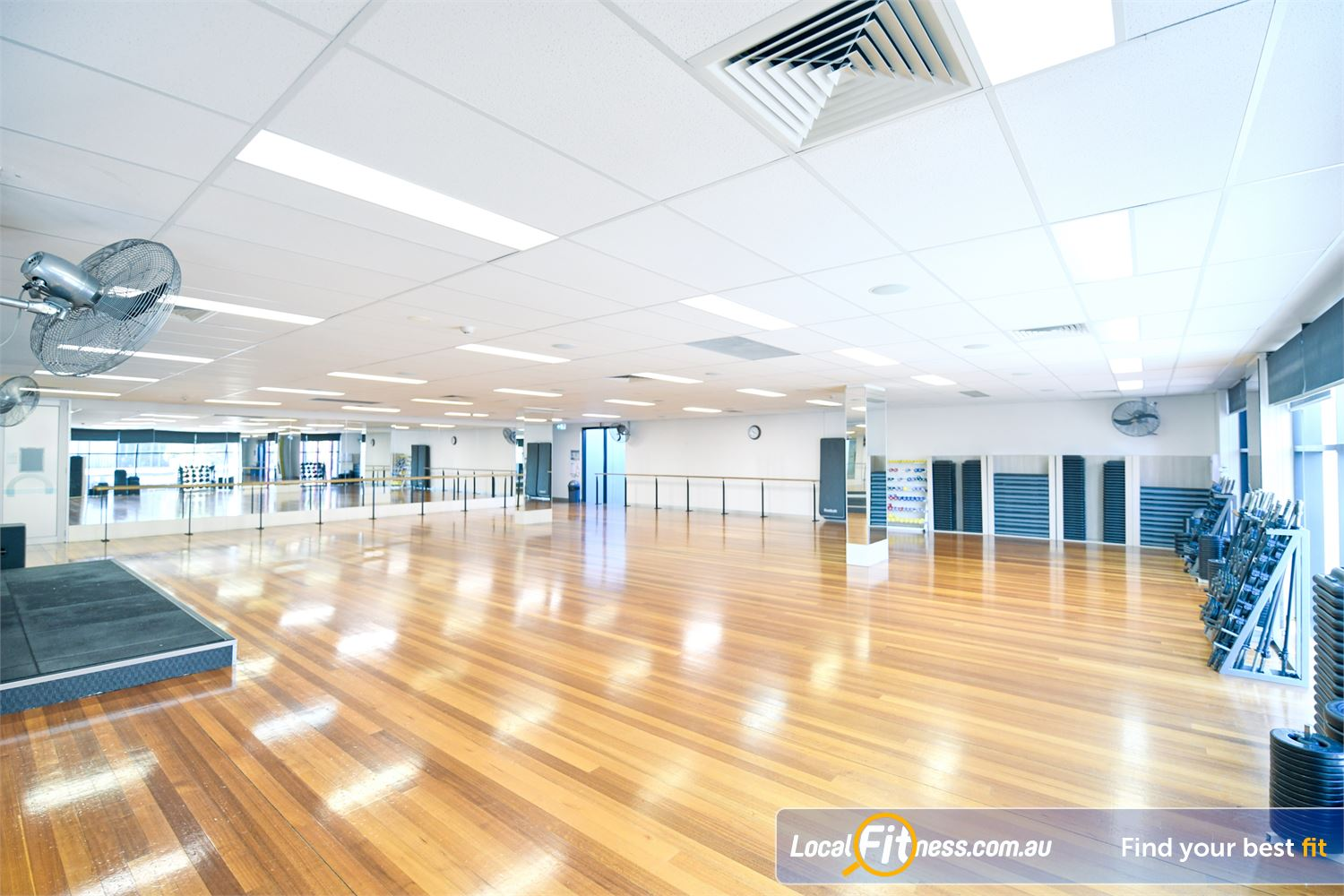 Goodlife Health Clubs Port Melbourne Our spacious Port Melbourne group fitness studio with scenic views of Bay Street.