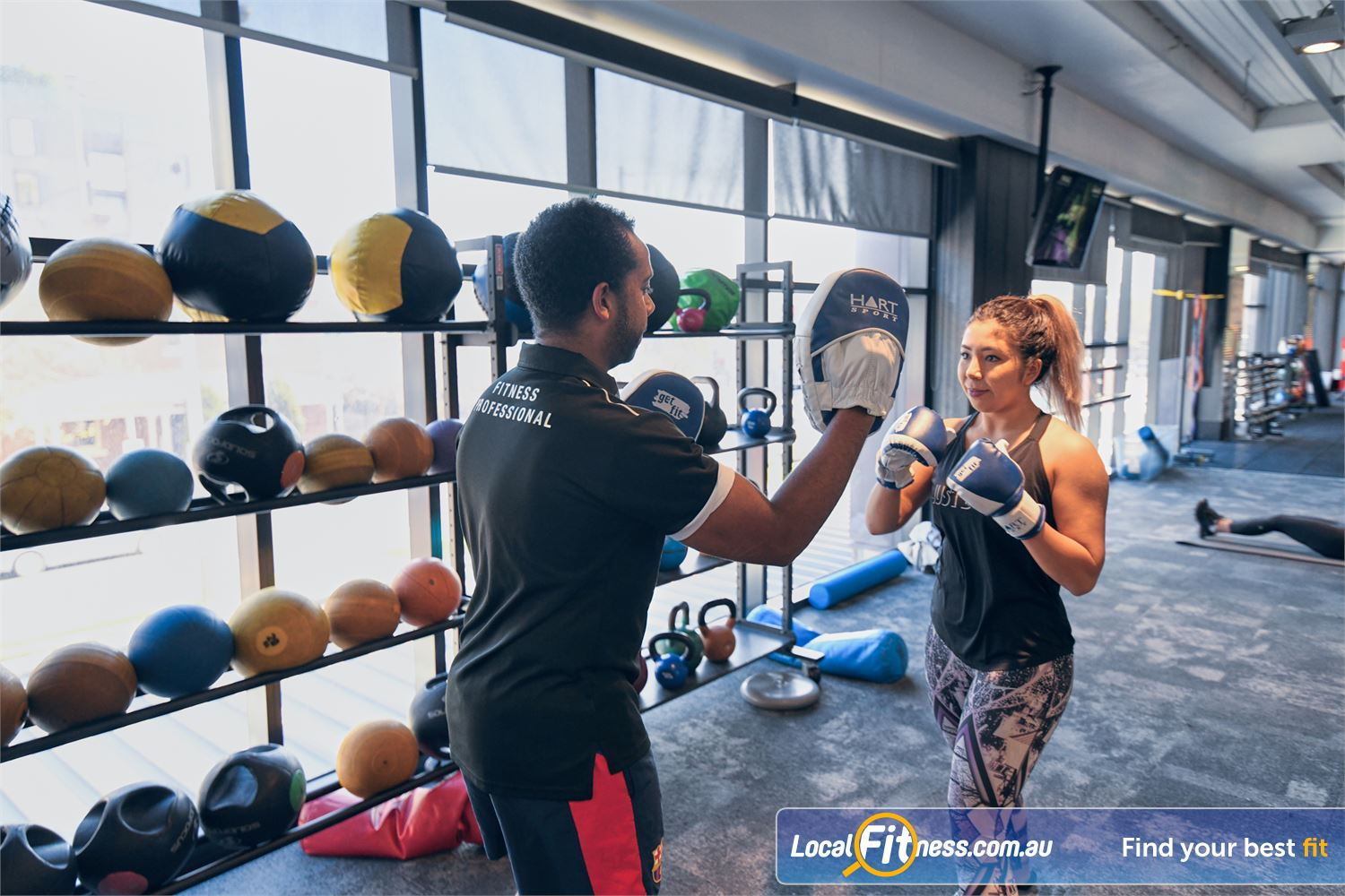 Goodlife Health Clubs Near Richmond North Our Port Melbourne personal trainers can take you through a boxing routine.