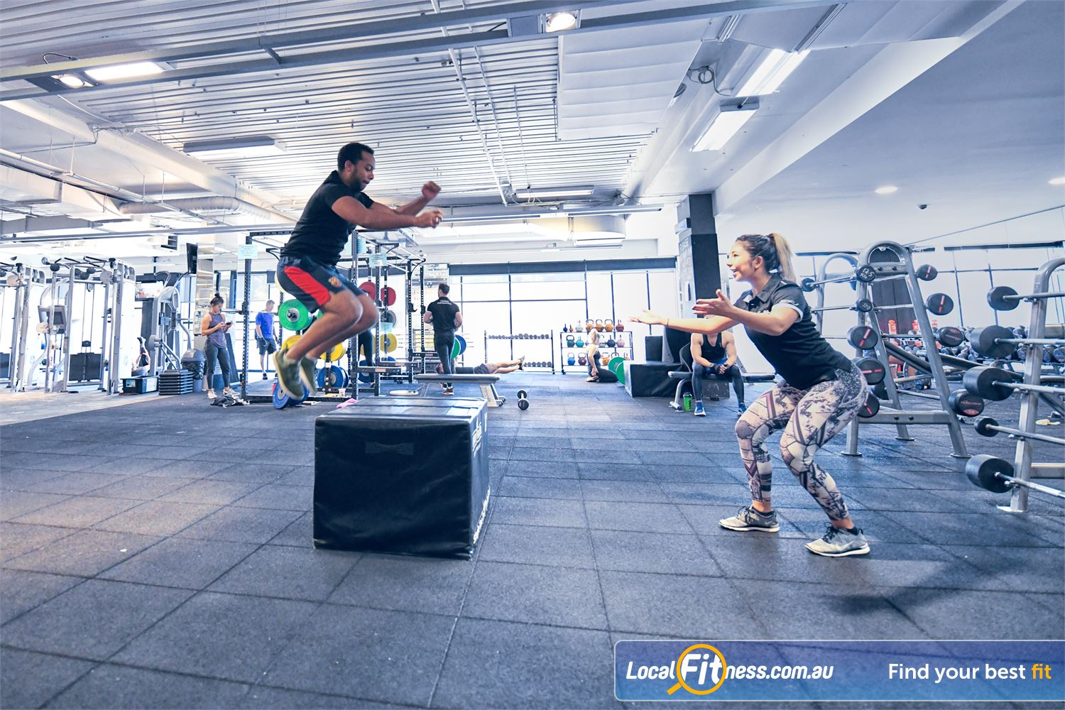 Goodlife Health Clubs Port Melbourne Increase your plyometrics with our foam plyo boxes.