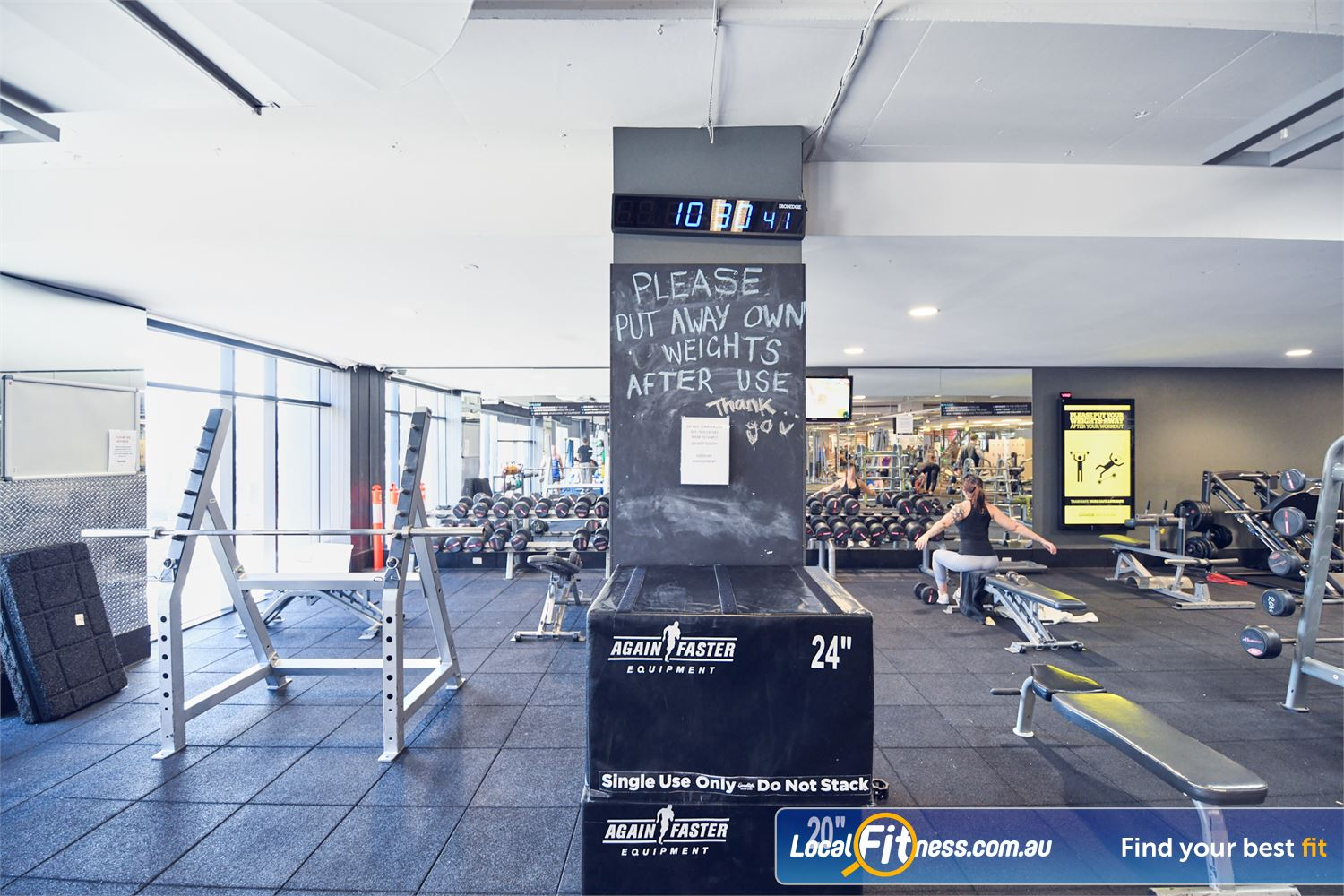 Goodlife Health Clubs Port Melbourne The fully equipped functional training and HIIT gym area in Port Melbourne.