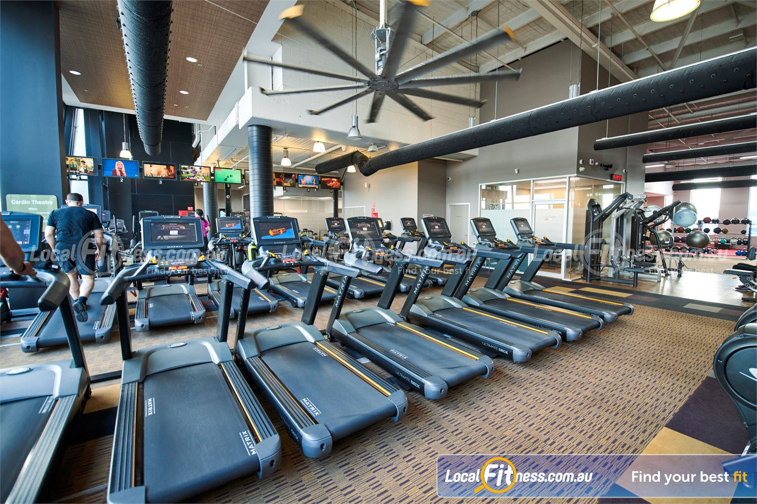 Fitness First Doncaster State of the art MATRIX cardio with personal entertainment screens.