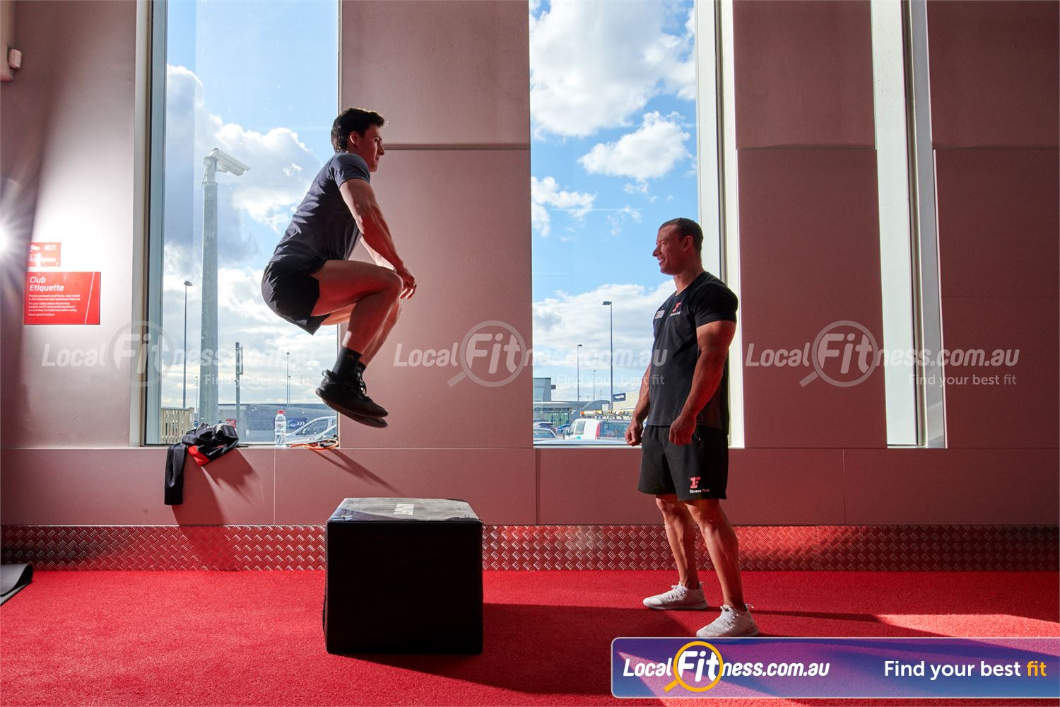 Fitness First Near Box Hill North Plyometric box jumps are a great way to improve your strength performance.