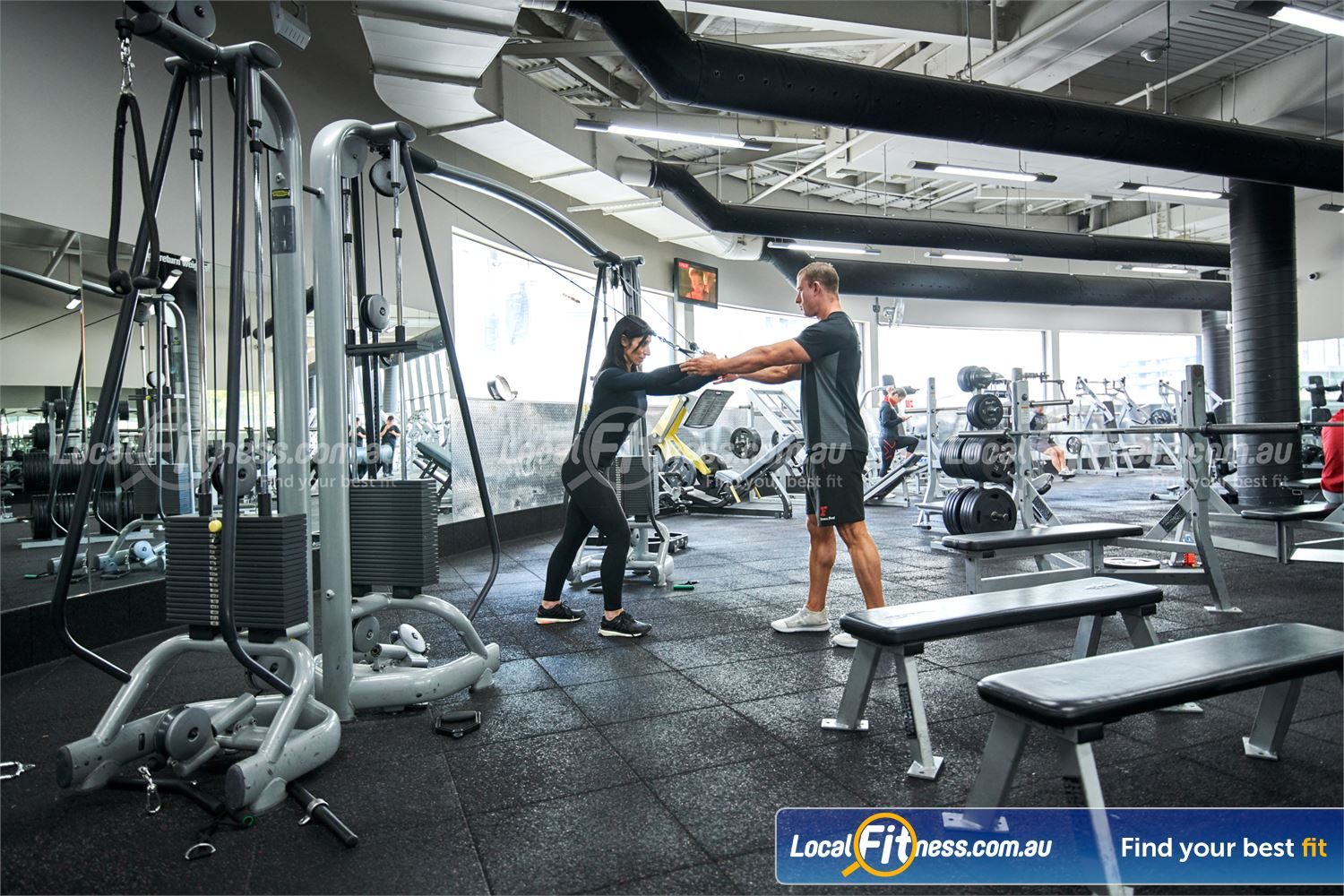 Fitness First Near Mont Albert North Our free-weights area inc. dumbbells, barbells, benches and more.