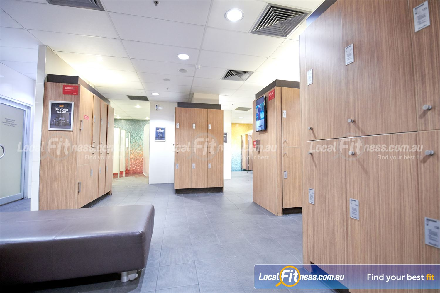 Fitness First Doncaster Luxurious change room facilities inc. steam room and sauna.