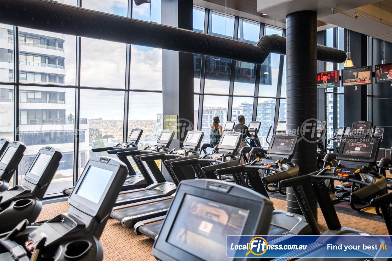 Fitness First Doncaster The latest cardio machine technology with personal entertainment consoles.
