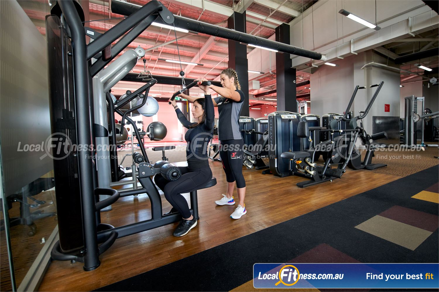 Fitness First Near Mont Albert North Our 24-hour Doncaster gym uses state of the art pin-loading machines from MATRIX.