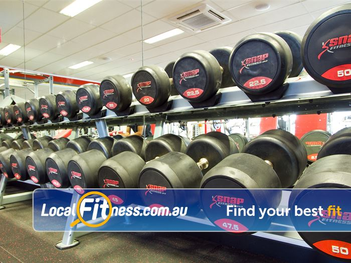 Snap Fitness Spearwood 24 hour Spearwood gym free-weight access with dumbbells ups to 50kg.