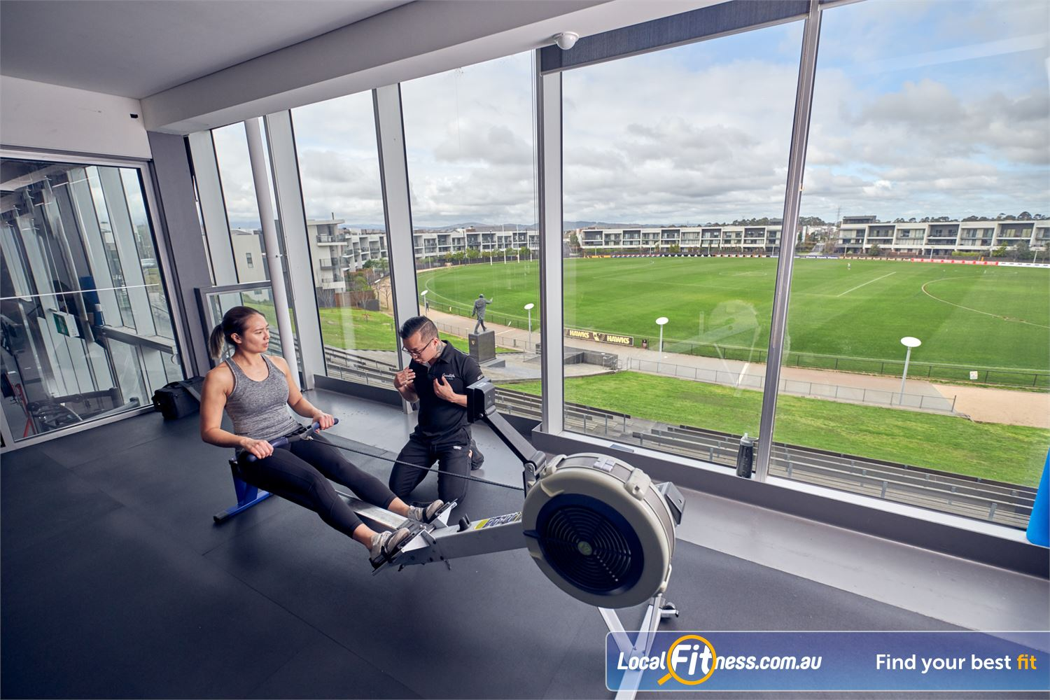 Goodlife Health Clubs Waverley Park Near Springvale Our Waverley Park gym team can take you through a rowing workout.