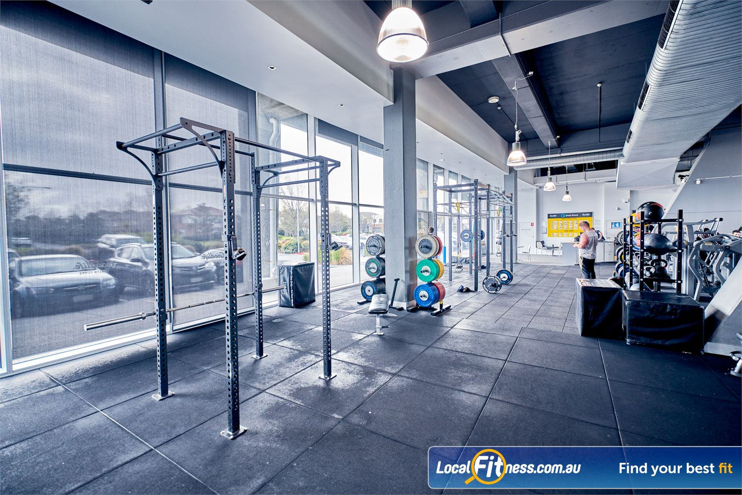 Goodlife Health Clubs Waverley Park Near Noble Park North Fully equipped functional training with strength matrix.