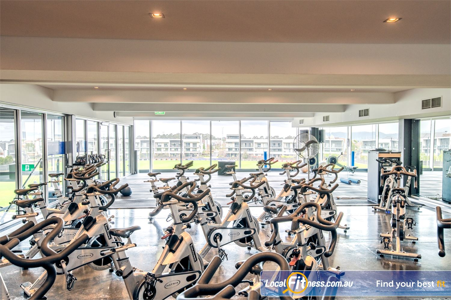 Goodlife Health Clubs Waverley Park Mulgrave Our cycle studio provides unique and stunning views overlooking the Waverley Park oval.