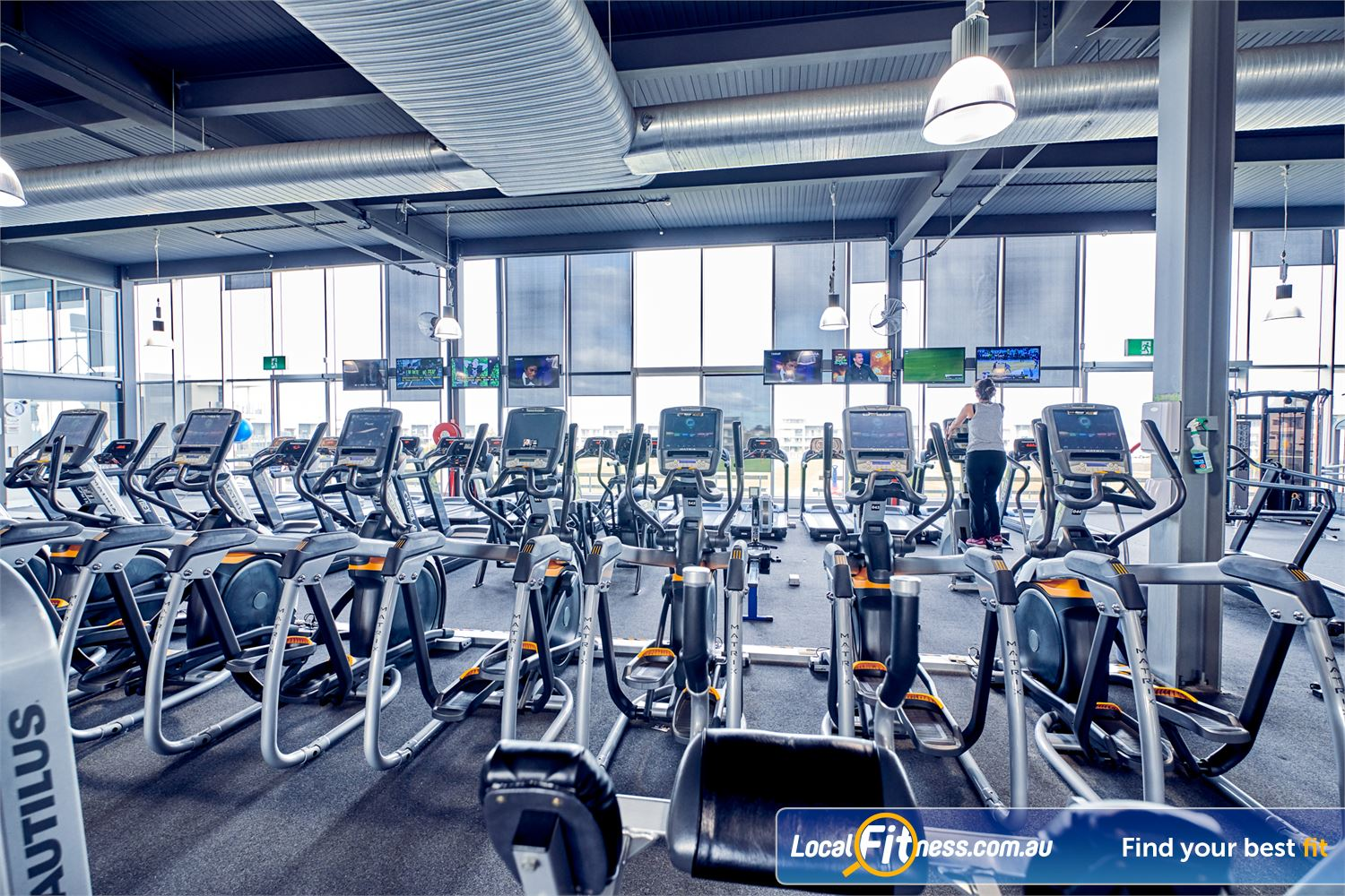 Goodlife Health Clubs Waverley Park Near Noble Park Rows of state of the art cardio from Cybex, MATRIX and more.